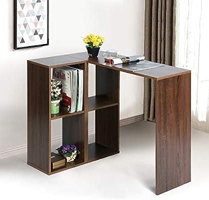 House in Box. com - Mesa de Escritorio esquinera con 4 estanterías ...