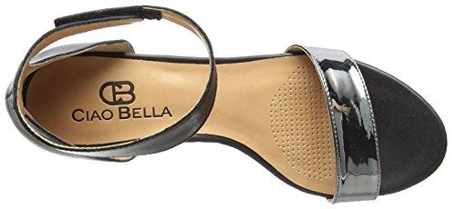 Ciao Bella Wilson Sandalo Con Zeppa Nero / Peltro