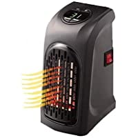 WORTH WEB Mini Portable Electric Air Room Fan Heater for home office (Black)