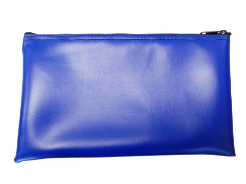 Leatherette Zipper Wallet - Vinyl Zipper Bags (Leatherette) Small, Compact Zippered Pouches | Portable Travel Utility | Check Wallet, Toiletries, Makeup, Cosmetics, Tools | Men, Women | Royal Blue