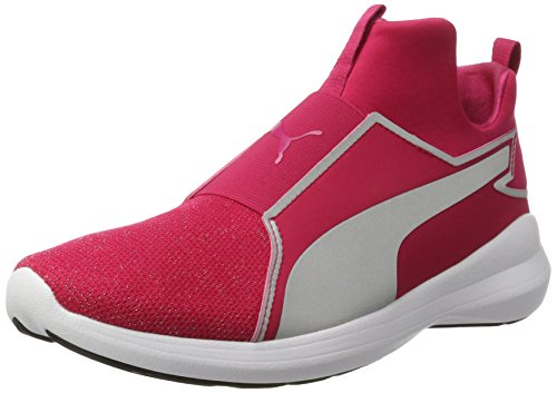 Puma Rebel Mid Gleam Jr, Zapatillas Altas Unisex Niños Rosa (Love Potion-silver)