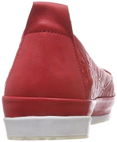 Andrea Conti 0025783, Bailarinas con Punta Cerrada Para Mujer rojo (rojo)