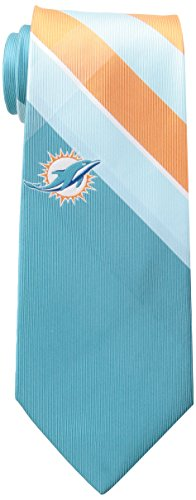 Miami Dolphins Grid Neck Tie with NFL Football Team Logo
