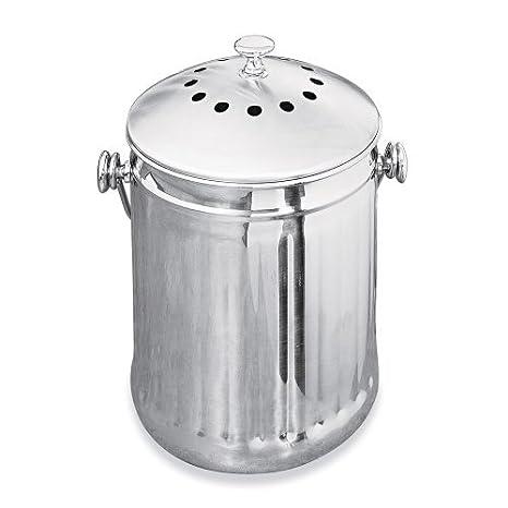 El olor-libre de encimera de recipiente Compost: bidón de 1, diseño de jardín, césped, Mantenimiento: Amazon.es: Jardín