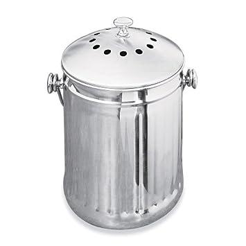 El olor-libre de encimera de recipiente Compost: bidón de 1, diseño de