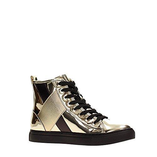 AJ Armani Jeans 6A514 Sneakers Women Leather Yellow 40 zF5LKez