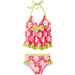 Pink Platinum Little Girls'  Big Floral Tankini