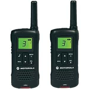 Motorola 59T60PACK - Motorola Walkie Talkies (TLKR T60, LCD, 8 canales), color negro