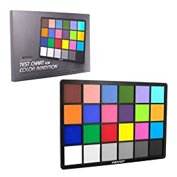 Mennon Test Color Chart with 24 Colors, Small (8\
