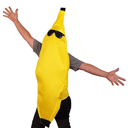 K Brands Banana Costume with Sunglasses; Felt, One -