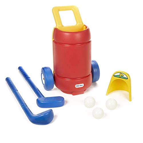 Little Tikes TotSports Easy Hit Golf Set + 3 balls + 2 clubs (Renewed)