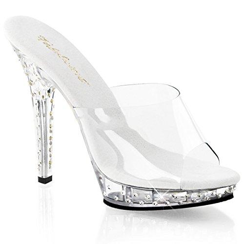 Fabulicious Lip-101SDT - sexy chaussures Femmes talon hauts mini plateau sandalettes 35-43