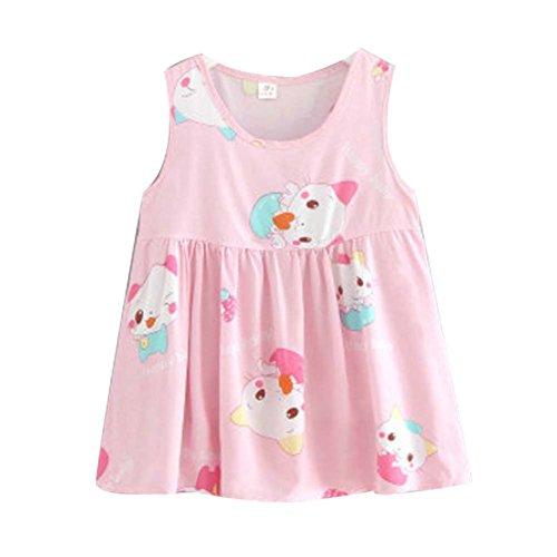 Koala Superstore [Z] Kids' Pajama Home Nightdress Sleeveless Cotton Dress Vest Skirt for Girls by Koala Superstore
