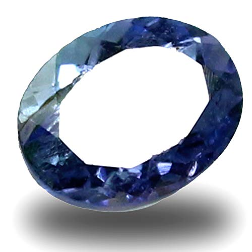 (Queen' Collection Tanzanite Gemstone TCW 1.50 Ct Certified Rare Bi Color Amazing Blue Purple Natural 8x6 mm Oval Shape for Jewelry)
