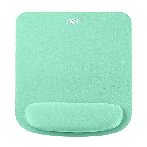 NEX Mouse Pad with Memory Foam Wrist Support, Non-Slip Rubber Base Wrist Rest for Carpal Tunnel Syndrome Group, Typist and Office Worker