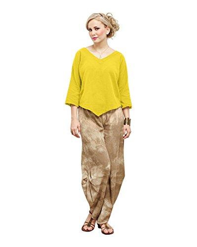 Oh My Gauze Women's Lynn Blouse S/M (6-10) (Yellow Gauze)