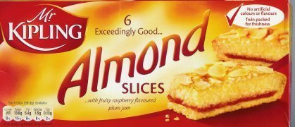 (Mr Kipling Cakes - Almond Slices - 1 Box with 6 Pieces by Mr.)