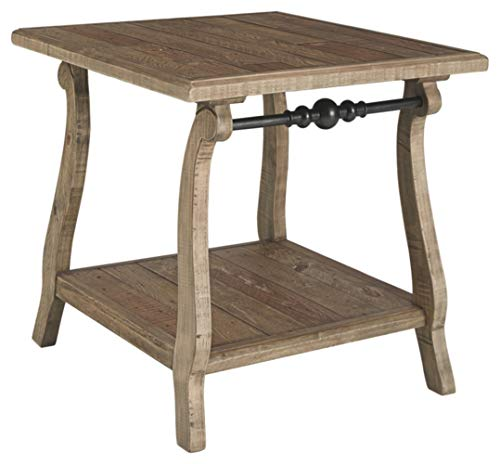 Ashley Furniture Signature Design - Dazzelton Casual Rectangular End Table - Two-tone (Furniture Cottage Country)