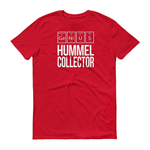 (Hobby ~ Genius Hummel Collector ~ Periodic Table of Elements Short Sleeve Gift T-Shirt Red)