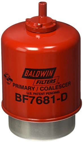 Baldwin Heavy Duty BF7681-D Fuel Filter,5-7/32 x 3-9/32 x 5-7/32 In