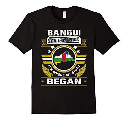 Mens Bangui, Central African Republic Shirt Medium Black