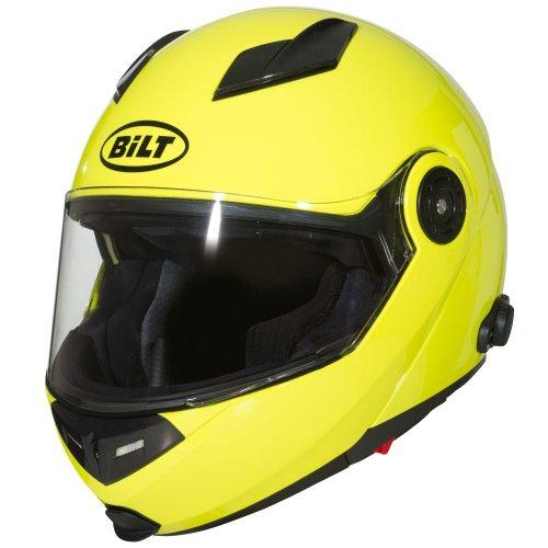 BILT Techno Bluetooth Modular Motorcycle Helmet - 2XL, Day Glo