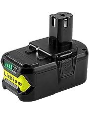 Powilling 5,0 Ah 18 V Li-ion ersättningsbatteri för Ryobi 18 V ONE+ P108 P107 P102 P103 P104 P105-verktyg