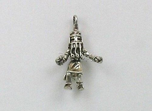 Sterling Silver 3-D Long Hair Kachina Charm Jewelry Making Supply, Pendant, Charms, Bracelet, DIY Crafting by Wholesale Charms