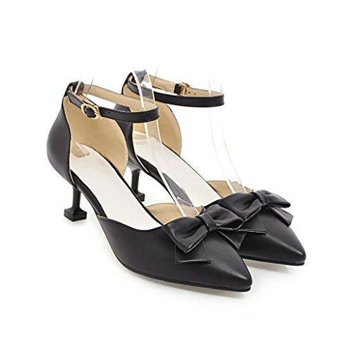 CXQ-Heels QIN&X Frauen Spitzen Zehe Stiletto Flachen Mund Prom High Heels Sandalen Schuhe Pumps Black