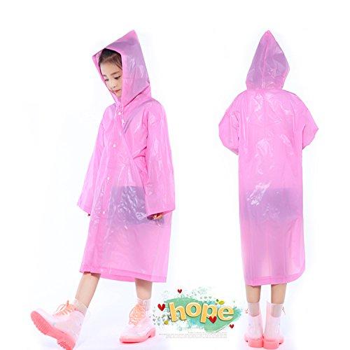 Maniche Giacca Con Poncho Impermeabile Indumenti Keesin Impermeabili Rain Bambini E Kids 2 Pink Cappuccio Esterna Per Cappotto nbsp;pezzi White 1qq8Hw7