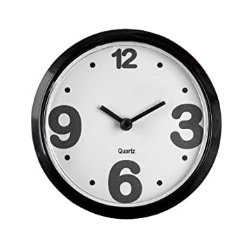 Mini Reloj de Cocina / Refrigerador Magnético - Moderno Reloj Análogo de Oficina - Negro: Amazon.es: Hogar