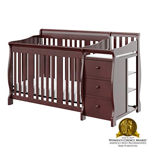 Storkcraft Portofino 4 in 1 Fixed Side Convertible Crib Changer Cherry