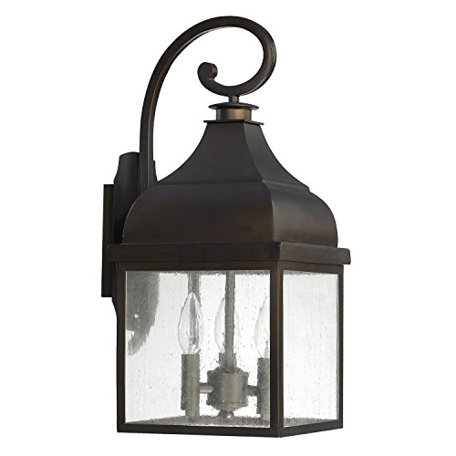 Capital Lighting 9642OB Three Outdoor Wall Lantern - Capital Lighting Traditional Lantern