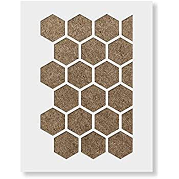 Honeycomb Stencil - Reusable Wall Stencil Pattern for Home Decor