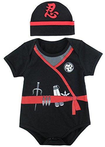 Cute Ninja Costumes Ideas (Mombebe Baby Boys' Ninja Costume Bodysuit with hat (12-18 Months, Ninja))