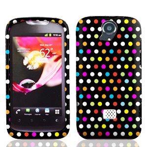 LF 3 in 1 Bundle Accessory - Designer Hard Case Cover, Lf Stylus Pen, Lf Screen Wiper for Huawei Mytouch Q 2 U8730 (Rainbow Dot)