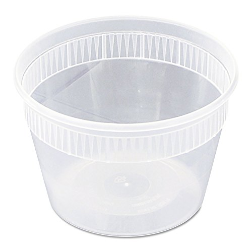 Pactiv YSD2516 Squat Deli Combo Container, 16 oz., Set of 240 - 240 Dining Set
