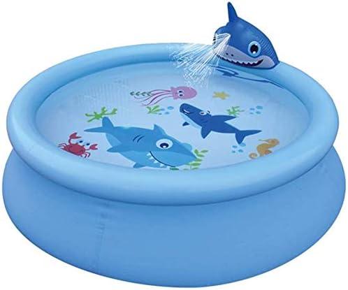 Mopoq Piscina Inflable Juego de rociado de Agua en el Verano del Parque acuático Swim Center Familiar Piscina Bola del hoyo Juguetes al Aire Libre for Adultos, niños Ballena: Amazon.es: Hogar