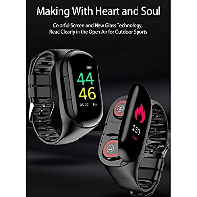 Lorsoul Heart Rate Blood Pressure Wristband 2-in-1 Bluetooth 5 0 Fitness Bracelet Wireless In-ear Type Headphone Estimated Price £55.06 -
