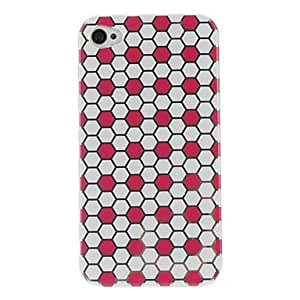 Durable Honeycomb Pattern PC Hard Case for iPhone 4/4S