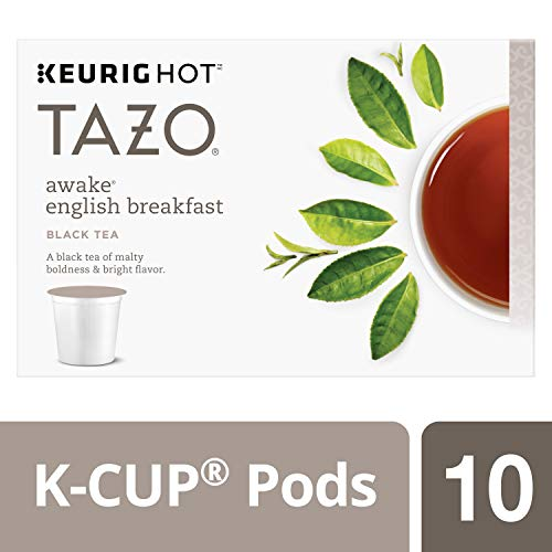 Tazo Awake English Breakfast K-Cup Pods For a Bold Traditional Breakfast-Style K-Cup Tea Black Tea Caffeinated Morning Drink 10 K-Cup Pods (Real English Tea)