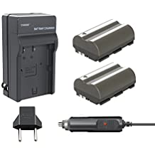 Bonacell 2 Pack Replacement Canon BP-511 2200mAh Battery and Charger Kit for Canon EOS 5D, 50D, 40D, 20D, 30D, 10D, Digital Rebel 1D, D60, 300D, D30, Kiss Powershot G5, Pro 1, G2, G3, G6, G1, Pro90