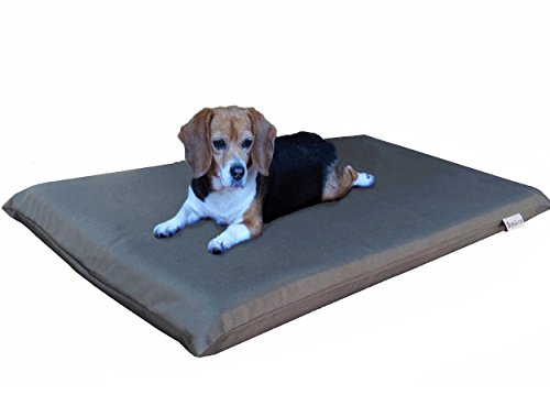 Dogbed4less Gel Cooling Memory Foam Dog Bed for Medium Large Pet with Waterproof Internal Cover, Oxford Dark Slate 45X27X3 Inches