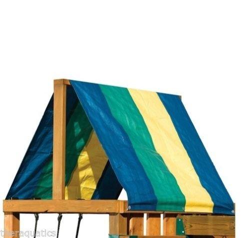 gsmvマルチカラーキャノピーReplacement Tarp屋根Shade Playground Swingset B07CVHV69P