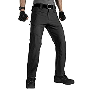 FREE SOLDIER Men's Military Tactical Pants Outdoor Nylon Ripstop Work Trousers with Zipper Pockets 19