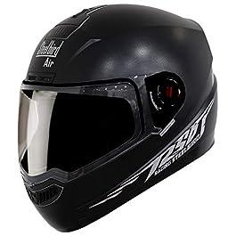Steelbird SBA-1 Moon Reflective Full Face Helmet (Large 600 MM, Dashing Black with Clear Visor)
