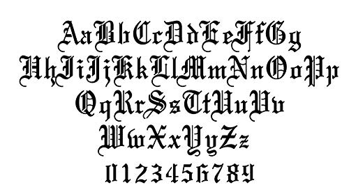Old English Letters Stencil (4 inch) (Best Old English Fonts)