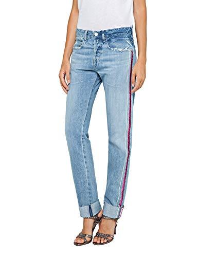 (Replay Women's Jeans with Glitter Stripe Light Blue in Size 26W 28L)