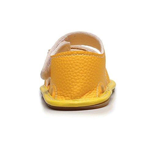 IGEMY Vintage Neugeborenes Baby Boy Leder Tarnung Sandalen Sommer weiche flache Schuhe Gelb