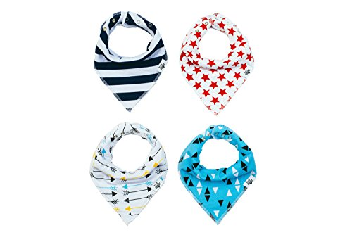 SPECIAL SALE 65% OFF Baby Bandana Bibs, THE ONLY 3 Adjustable Snaps, ShaniNY Baby, 100% Organic (Clearance Baby)